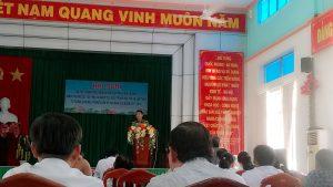 Đoàn ủy Công an huyện phát biểu tham luận