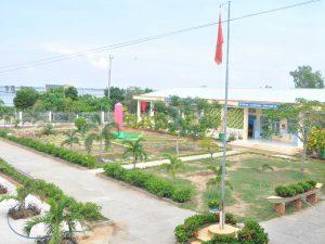 Khuôn viên trường xanh, sạch, đẹp