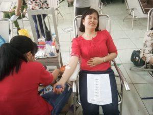 Giáo viên trường MN Tràm Chim tham gia hiến máu đợt 3/2020