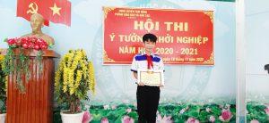 Em Nguyễn Ngọc Phi Long - THCS Phú Cường , giải Nhất Hội thi.