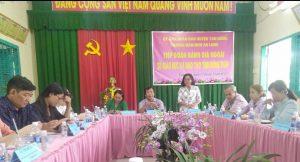 Bà Lê Thị Mộng Tuyền phát biểu ý kiến
