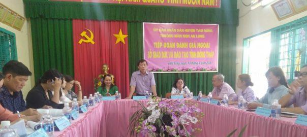 Phát biểu của ông Nguyễn Minh Tâm – Phó Giám đốc SGDĐT