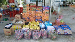 Các nhu yếu phẩm chuyển thiết yếu hỗ trợ người dân vùng dịch