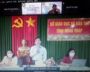 Ông Nguyễn Minh Tâm - PGĐ Sở GDĐT phát biểu khai mạc